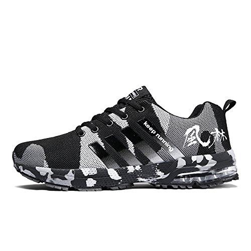 XIDISO Mens Athletic Shoes Air Cushion Breathable Lightweight Sport Tennis Men's Cross Training Running Shoe