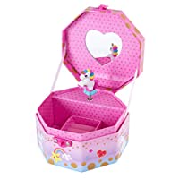 Hot Focus Musical Girls Jewelry Box - Rainbow Unicorn Music Jewel Storage Box - Plays Beethoven