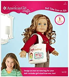 american girl crafts american crafts doll iron on kit tote 1043