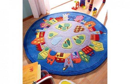 Kinderteppich haba  Amazon.de: Kinderteppich rund HABA Stadt