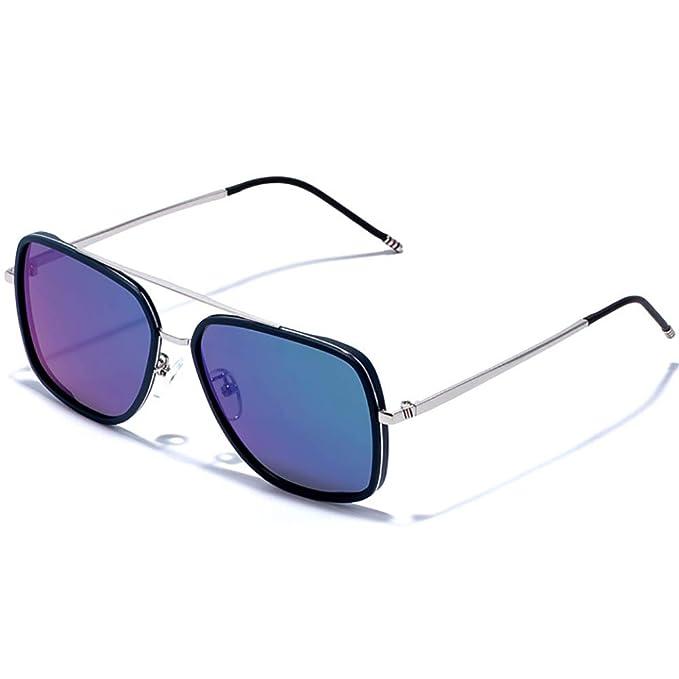 15ba56d515526 SHEEN KELLY Vintage Polarizado Gafas de sol Plaza para hombres mujeres Gafas  de sol clasico Downey Iron Man TR90 gafas de sol espejo  Amazon.es  Ropa y  ...