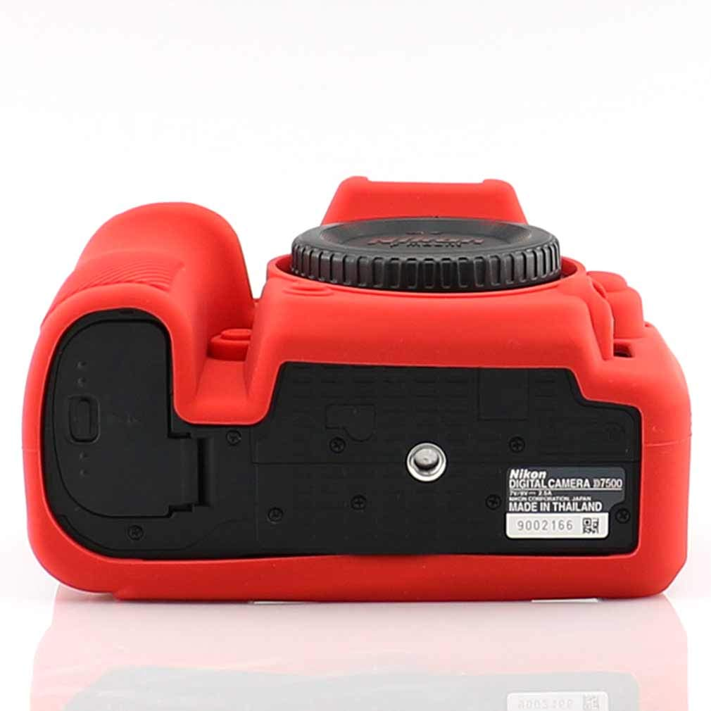 pa/ño de Limpieza XJPT-D7500-GJ-A01G11 First2savvv Negro Cuerpo Completo Caucho de TPU Funda Estuche Silicona para c/ámara para Nikon D7500