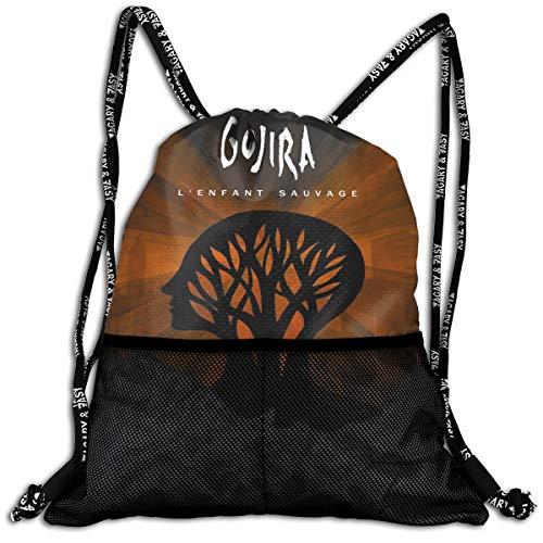 TERESAWATKINS Gojira L'Enfant Sauvage Man's Woman Sport Gym Sack Drawstring Backpack Bag