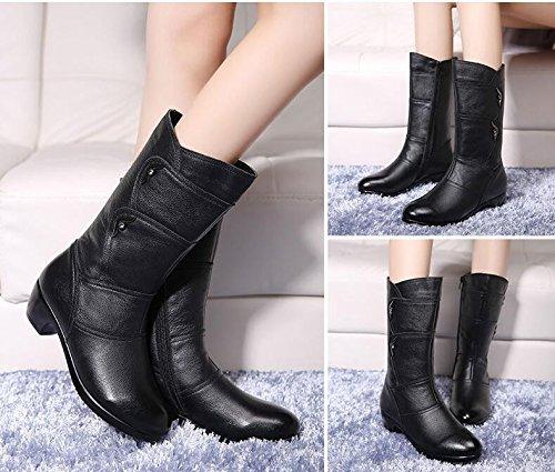 De Otoño Black Botas En Botas La La Caballero Zapatos E Y Y Rey Invierno Niña Con El GTVERNH Madre De 5YqwHU