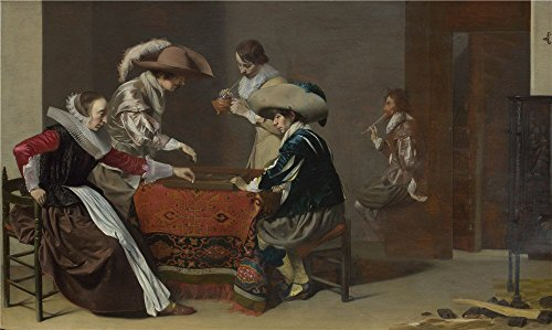 ['Willem Duyster Two Men Playing Tric Trac With A Woman Scoring ' Oil Painting, 24 X 40 Inch / 61 X 102 Cm ,printed On Polyster Canvas ,this High Quality Art Decorative Prints On Canvas Is Perfectly Suitalbe For Laundry Room Decor And Home Decoration And] (Russian Spy Costume Female)