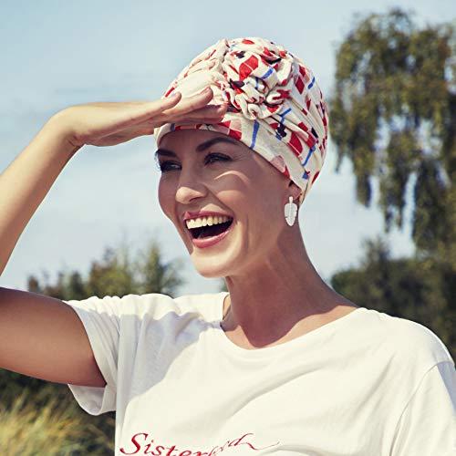 Ahava Lino Estampado De Pixeladas Headwear Turbante Christine Amapolas qwHtII