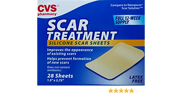 Amazon Com Cvs Scar Treatment Silicone Scar Sheets 12 Week Supply