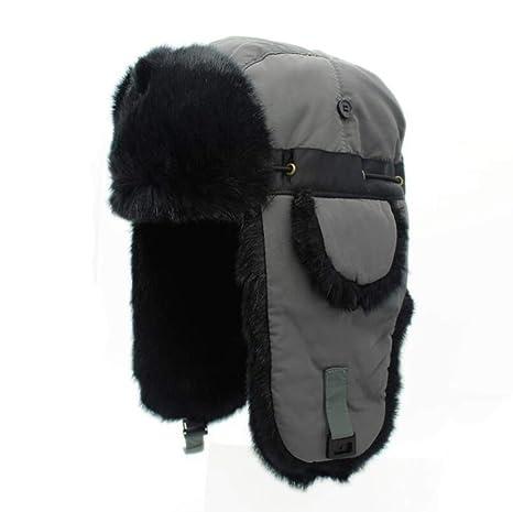 da5876657e2 Amazon.com  Lei Feng Cap Winter Thicken Adjustable Men Women Couple Ski  Caps Warm Earmuffs Translucent Ear  Sports   Outdoors