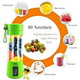 RiWEXA Portable USB Juicer Blender 380ml Bottle with rechargeable power bank & USB cable