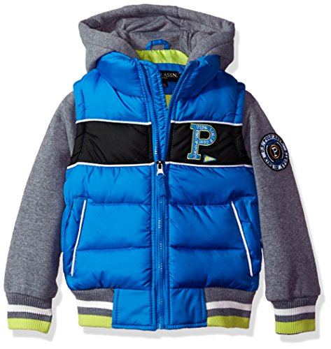 US Polo Association Little Boys' Fashion Outerwear Jacket, UB43-Vest-Blue Tile, 7