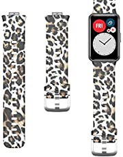Patterned Silicone Strap for Huawei Watch Fit - Tiger