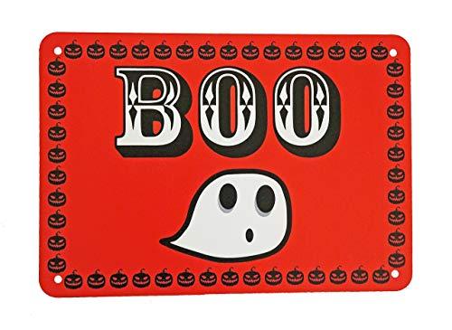 (Boo Ghost Funny Simple Easy Halloween Door Sign)