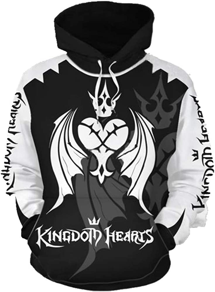 Unisex Casual Oversize Kingdom Hearts Hoodies Pullover Sweater Long Sleeve T-Shirt Animation 3D Printing top Costume