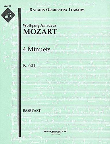 4 Minuets, K.601: Bass part (Qty 4) [A7765]