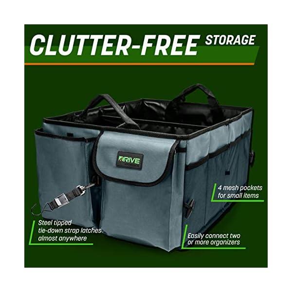 51su0ZQPopL Drive Auto Products Kofferraum Organizer - Praktische Kofferraumtasche mit Fächern - Einkaufskorb, Aufbewahrungsbox für…
