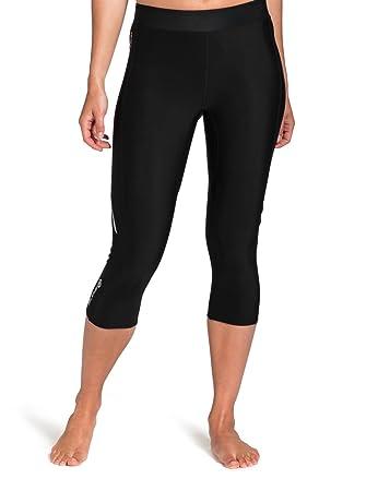 SKINS Women's Thermal Compression 3/4 Capri Tights, Black/Black, X-