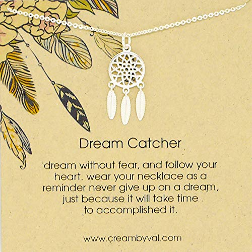 (Dream Catcher Sterling Silver Necklace - 17'' Length)