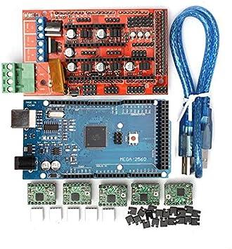 SODIAL Impresora 3D 1.4 Controlador + mega2560 R3 + A4988 con Kit ...
