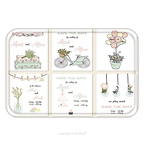 Flannel Microfiber Non-slip Rubber Backing Soft Absorbent Doormat Mat Rug Carpet Collection Of Cute Card Templates Wedding Marriage Save The Date Baby Shower Bridal 314183249 for - Echelon Echelon Shower Locker