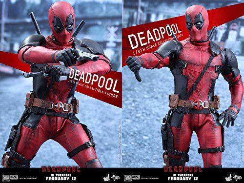 Marvel Comics Movie Masterpiece Deadpool 1/6 Scale Plastic Painted Figure action figure by Hot Toys