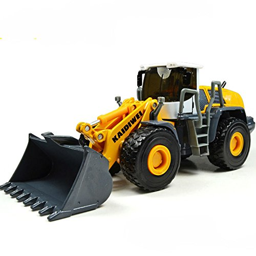 50 Diecast Vehicle (Lcyyo@ KAIDIWEI 1:50 Scale Alloy Four Wheel Loader Heavy Forklift Diecast Engineering Vehicle Model Truck Toy Gift, Collection, Kids Toy (Yellow))