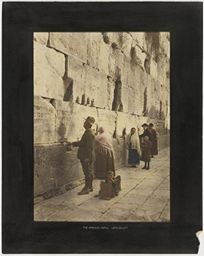 Poster Wailing Wall Jerusalem Format Hand-coloured photograph exhibition war photographs natural colour produced Colart's