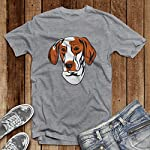Custom Funny Graphic T Shirts for Men Ariege Pointer Head Cotton Top 11