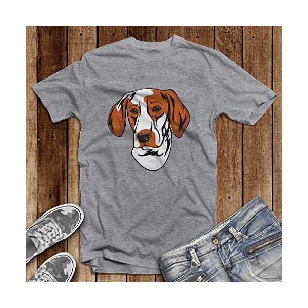 Custom Funny Graphic T Shirts for Men Ariege Pointer Head Cotton Top 4