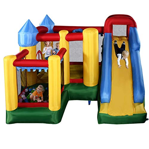 Costzon Mighty Inflatable Bounce House, Castle Jumper Moonwalk Slide...