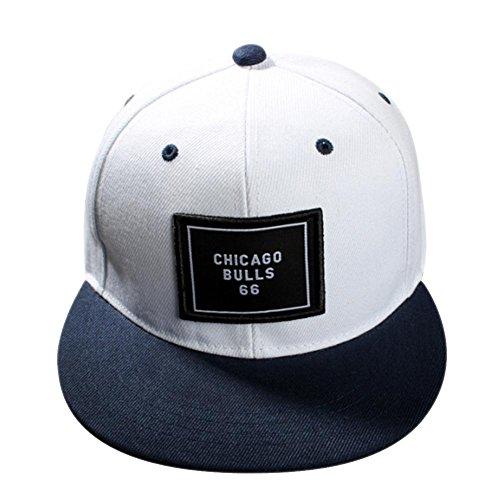 PB PEGGYBUY Gorra de béisbol unisex de moda para hombre ajustable, sombreros de Hip Hop, color blanco