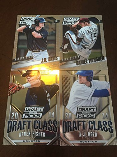 2014 Panini Prizm Perennial Draft Picks Houston Astros Team Set 4 Cards Derek Fisher A.J. Reed