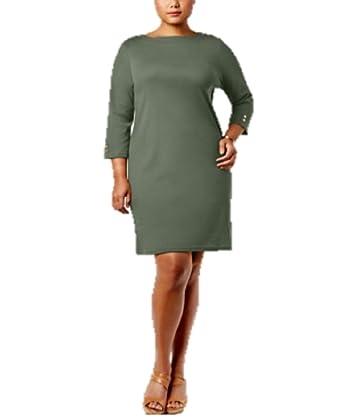 Plus Size Cotton Shift Dress