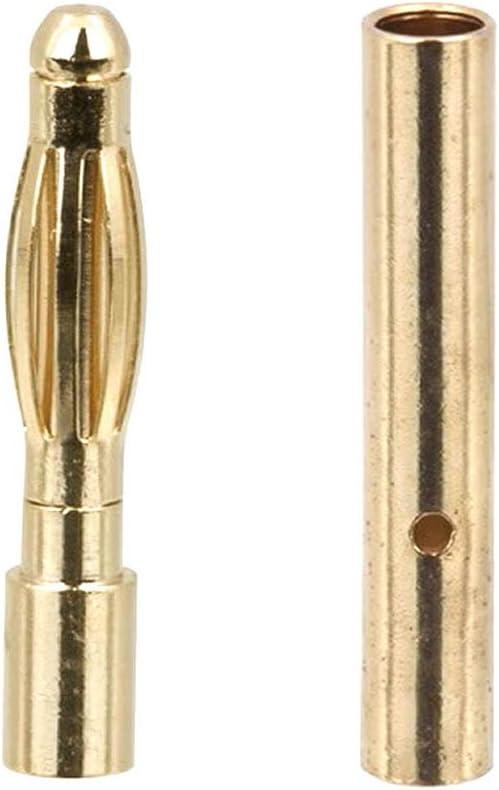 5 Paar 2 mm 2mm 2,0mm Goldstecker Stecker Bananenstecker Buchse Vergoldet RC
