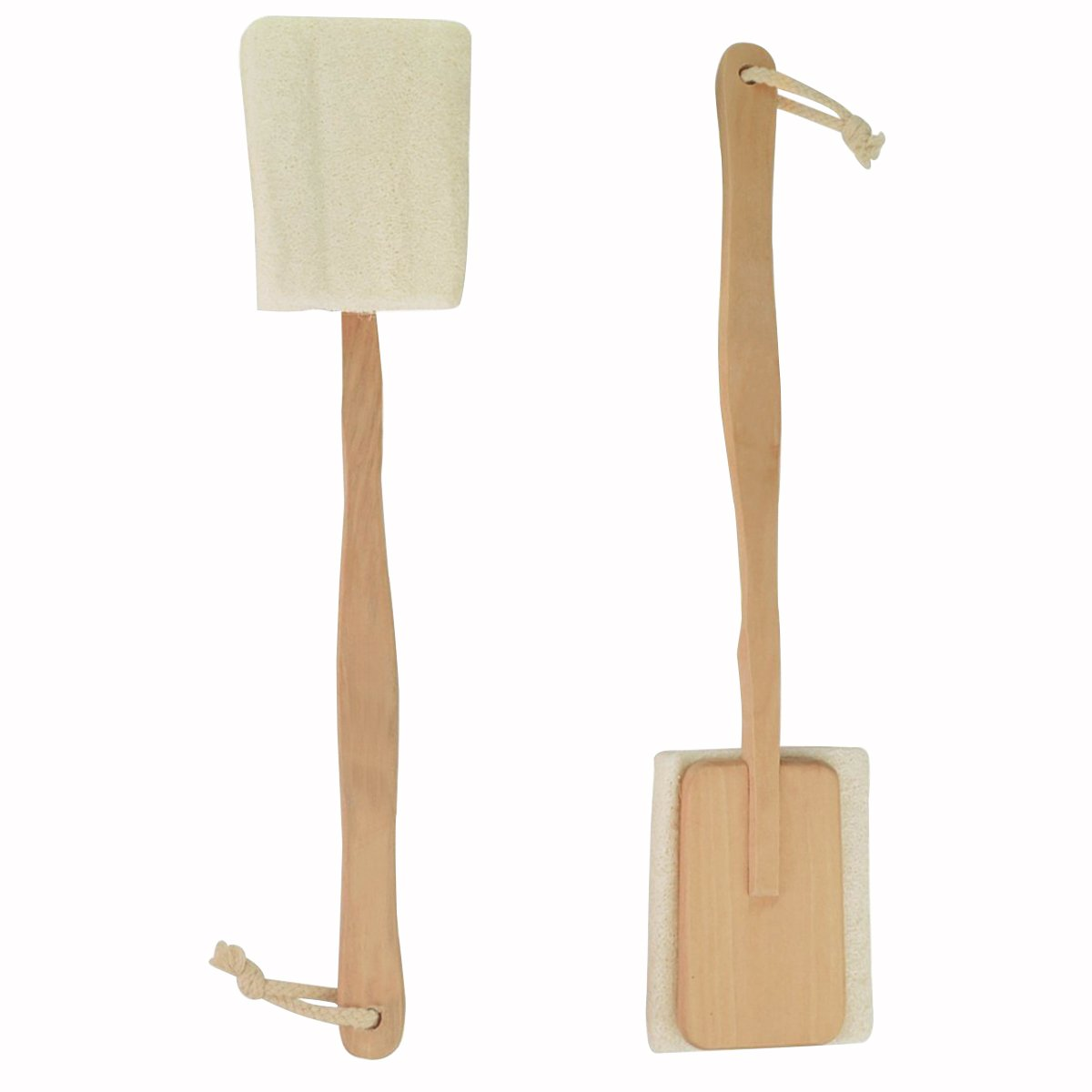 Jmkcoz 2 Pack Bath Body Brush for Back Exfoliating Loofah with Long Handle