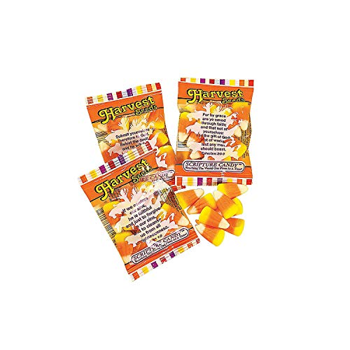 Fun Express - Harvest Seeds Candy Corn for Fall - Edibles - Soft & Chewy Candy - Caramel & Licorice & Candy Corn - Fall - 17 Pieces]()