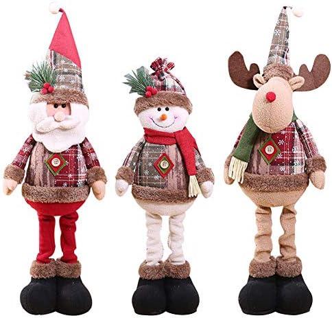 """26/"""" Set Babbo Natale renna seduta con gambe da appendere morbido peluche Regalo di Natale 165"""