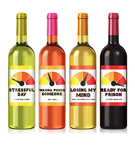Stressful Day Wine Label Set - set of