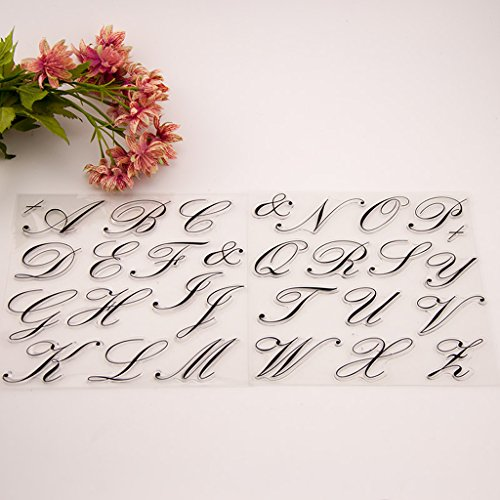 LoXTong Silicone Clear Stamp Transparent Rubber Stamps DIY Scrapbook Alphabet Craft Gift Utensil for Making Cute Handicrafts