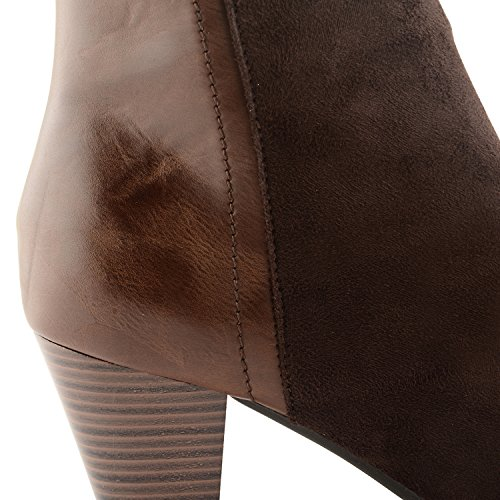 Footwear Sensation - Botas para mujer - Dark Brown Faux Suede PU