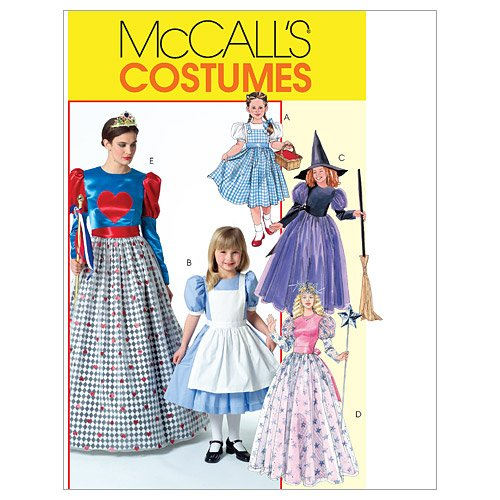 McCall's M4948 Women's Good Witch, Bad Witch, and Fairy Tale Costume Sewing Patterns, Sizes S-XL -
