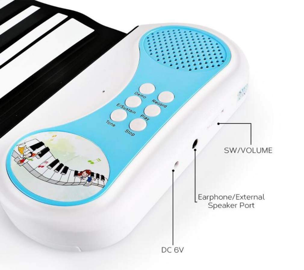 CE-LXYYD 49-Key Educational Electronic Digital Music Piano, Portable Keyboard w/Recording Feature Hand roll Piano, 8 Different Tones, 6 Educational Demo Songs & Build-in Speaker by CE-LXYYD (Image #3)