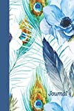 Journal: Feathers and Flowers 6x9 - LINED JOURNAL - Journal with lined pages - (Diary, Notebook) (Birds & Buttterflies Lin...