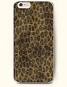 Apple iPhone 6 Case ( 4.7 inches) with Design of Brown And Yellow Serpent Grain - Snake Skin Print -OOFIT Authentic iPhone Skin