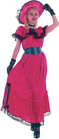 Women Fancy Dress Gone With The Wind Western Victorian Scarlet O Hara Costume