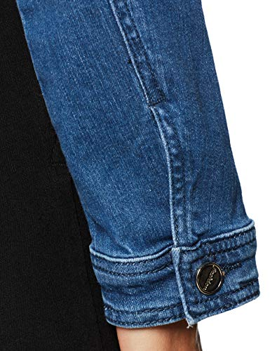 Oodji Giacca 7512p Decorazioni Metalliche Ultra Con Donna Blu Jeans In HqHTxrz