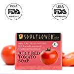 Soulflower Juicy Red Tomato Handmade Soap, 150g