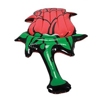 WENMIN Inflable Gigante Rosa Piscina Flotador Isla Piscina Lago ...