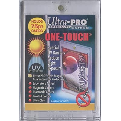 1 (One) 75pt Ultra Pro One-Touch Magnet Card Holder for Thicker Baseball and other Trading Cards: Sports & Outdoors