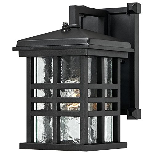 Westinghouse Lighting 6204500 Caliste 1 Light Outdoor Wall Lantern with Dusk to Dawn Sensor, Textured Black,