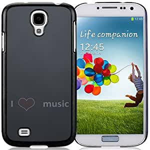 New Beautiful Custom Designed Cover Case For Samsung Galaxy S4 I9500 i337 M919 i545 r970 l720 With Love Music Phone Case